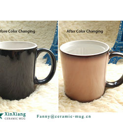 Color Changing Glazed Ceramic mugs