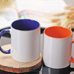 Inside Color Glazed Ceramic Mugs
