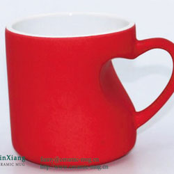 Special-shaped Color Glazed Ceramic Mugs