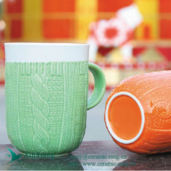 Relief Glazed Ceramic mugs