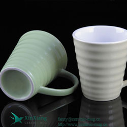 Thread V Shape Ceramic Coffee Mugs