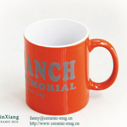 Color Glazed Ceramic Mugs with Printing