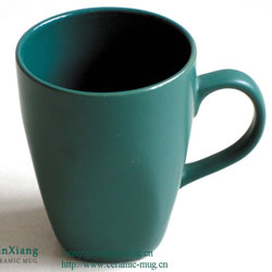 Matt Color Glazed Soup Ceramic Mugs