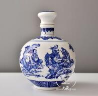 Supply  Jingdezhen blue and white porcelain wine bottle