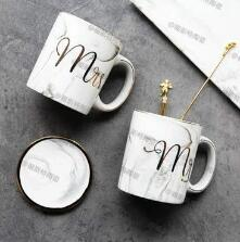 Marble and Phnom Penh couple mug  ceramic coffee cup